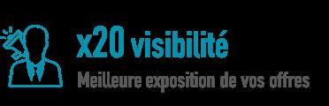 Marque employeur - 20 fois plus de visibilité